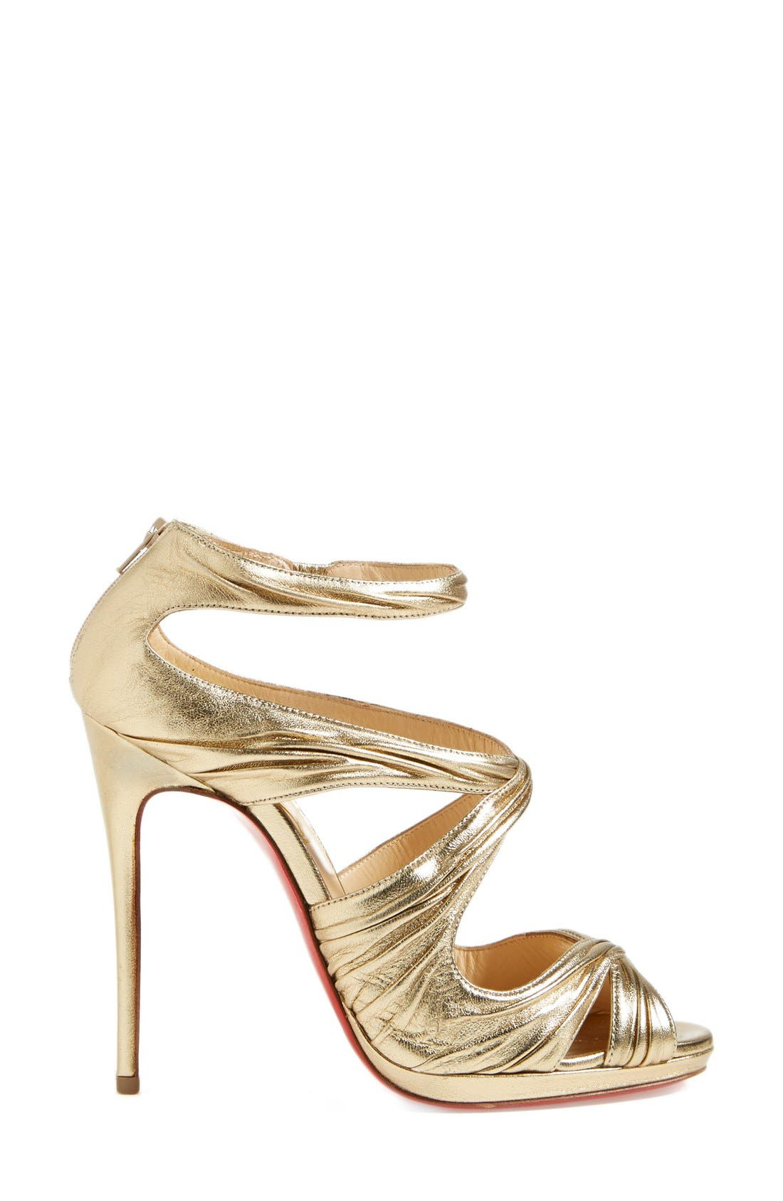 Alternate Image 4  - Christian Louboutin 'Kashou' Metallic Nappa Leather Sandal