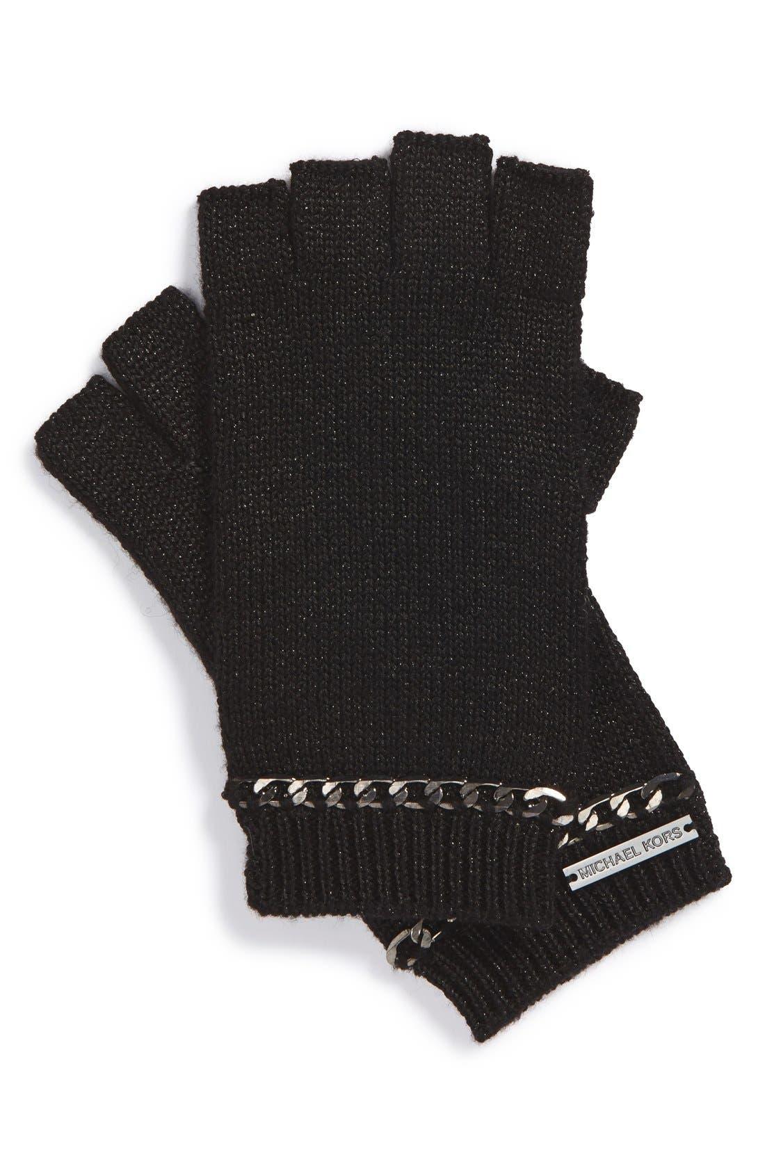 Main Image - MICHAEL Michael Kors Chain Accent Fingerless Gloves