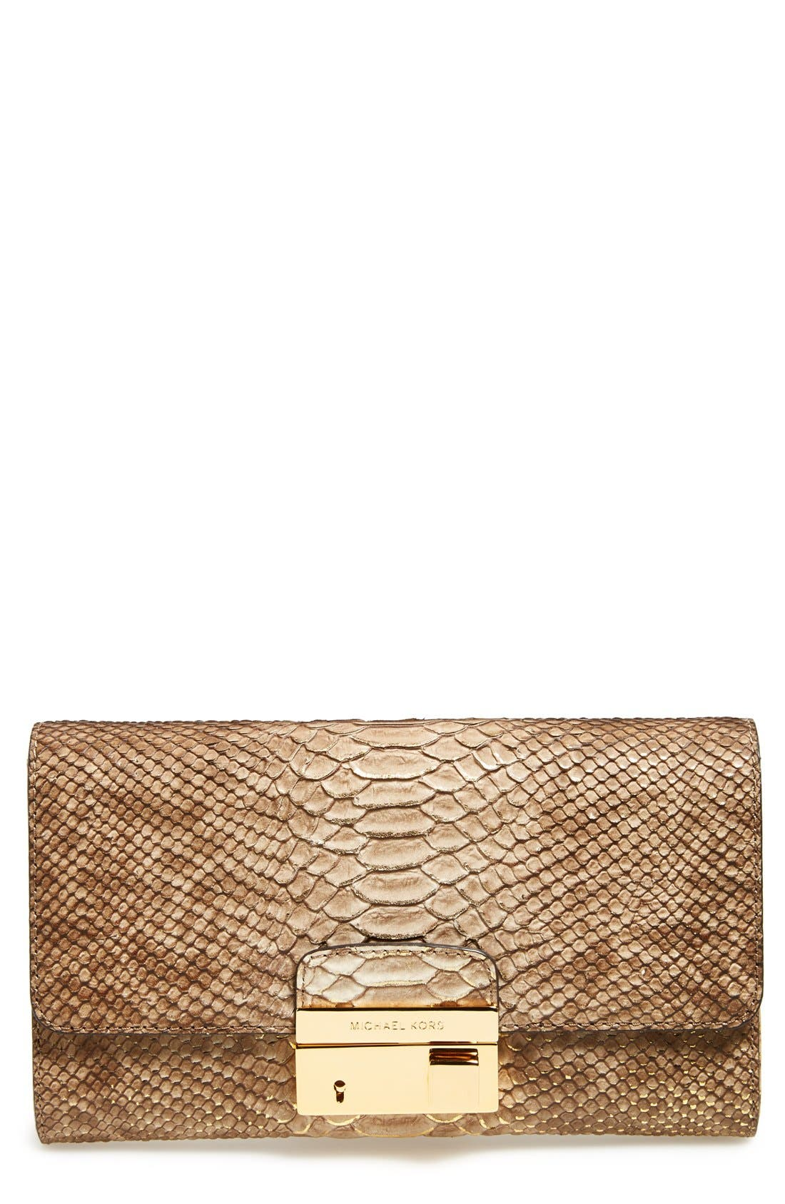 Alternate Image 1 Selected - Michael Kors 'Gia' Python Embossed Clutch