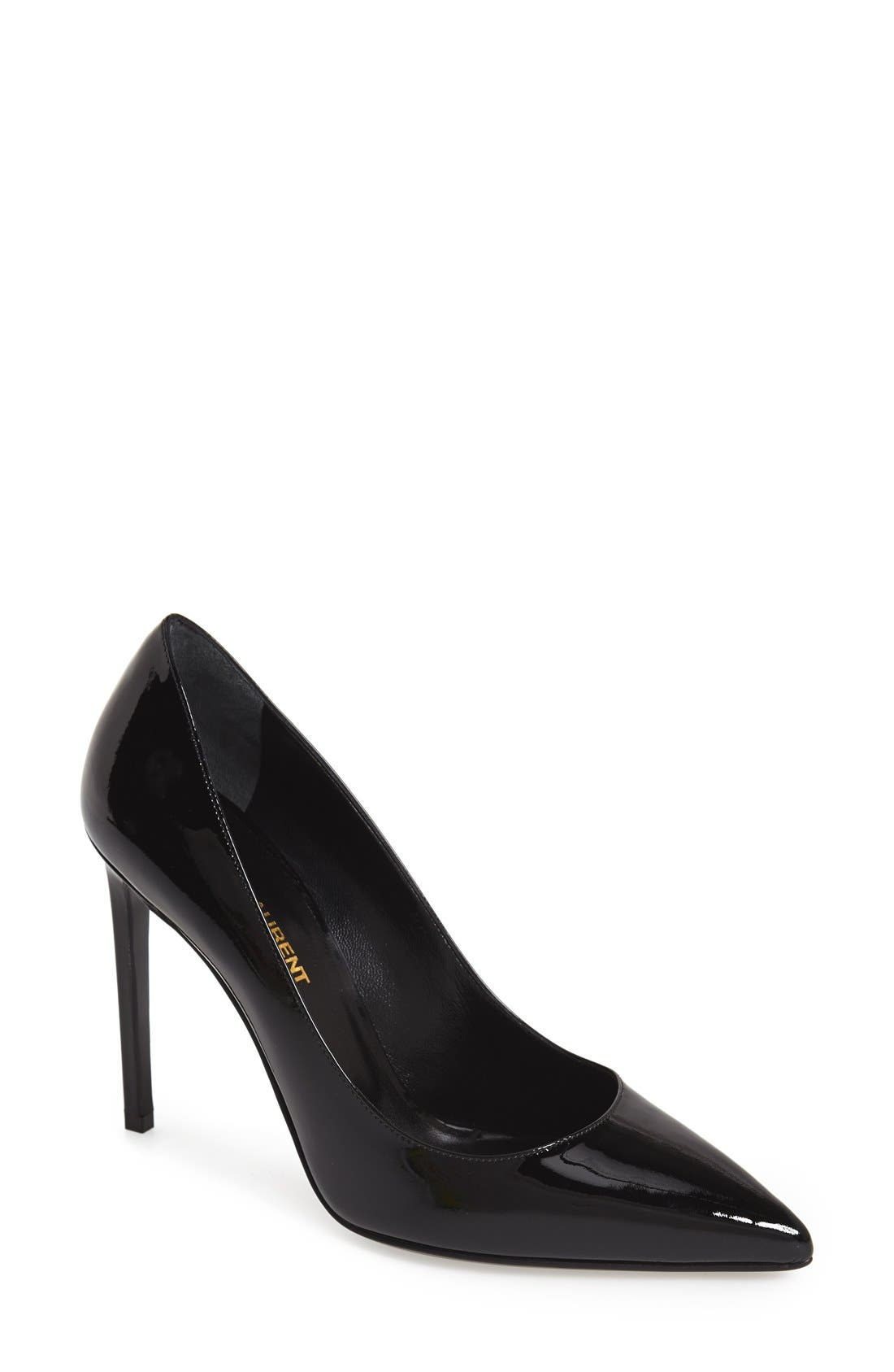 'Paris Skinny' Pointy Toe Pump,                             Main thumbnail 1, color,                             Black