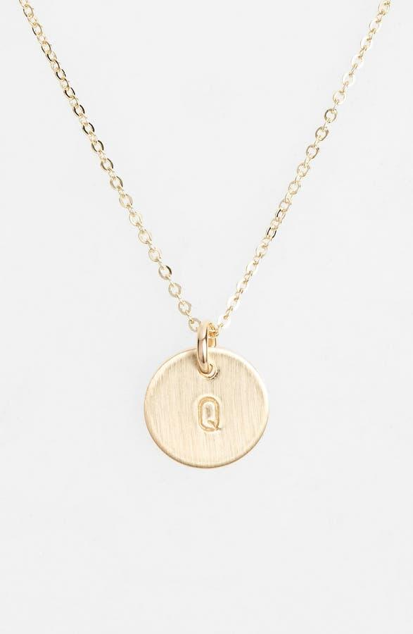 Nashelle 14k gold fill initial mini circle necklace nordstrom main image nashelle 14k gold fill initial mini circle necklace mozeypictures Choice Image