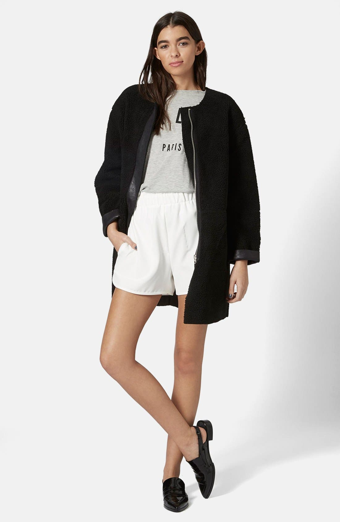 Alternate Image 5  - Topshop Faux Shearling Cocoon Jacket