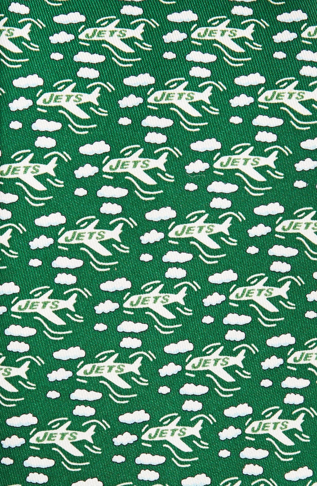 New York Jets - NFL Woven Silk Tie,                             Alternate thumbnail 2, color,                             Green