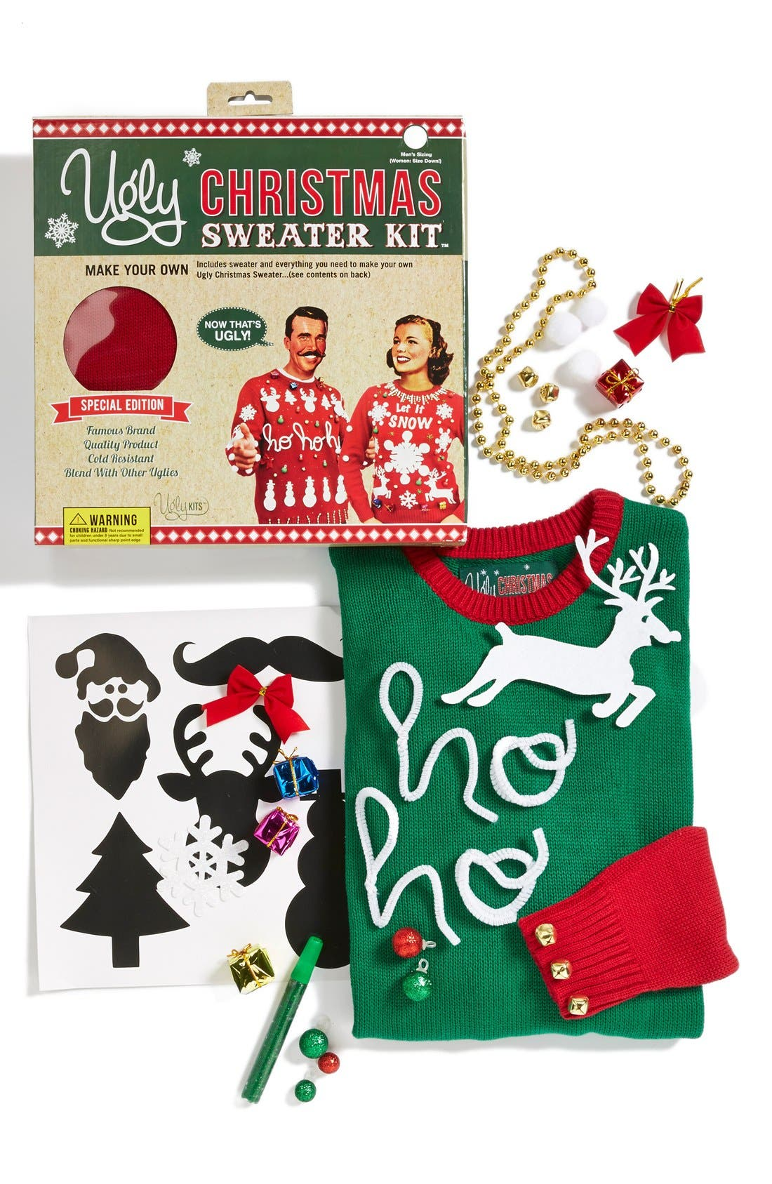Ugly Christmas Sweater Colorblock Make-Your-Own Sweater Kit ...