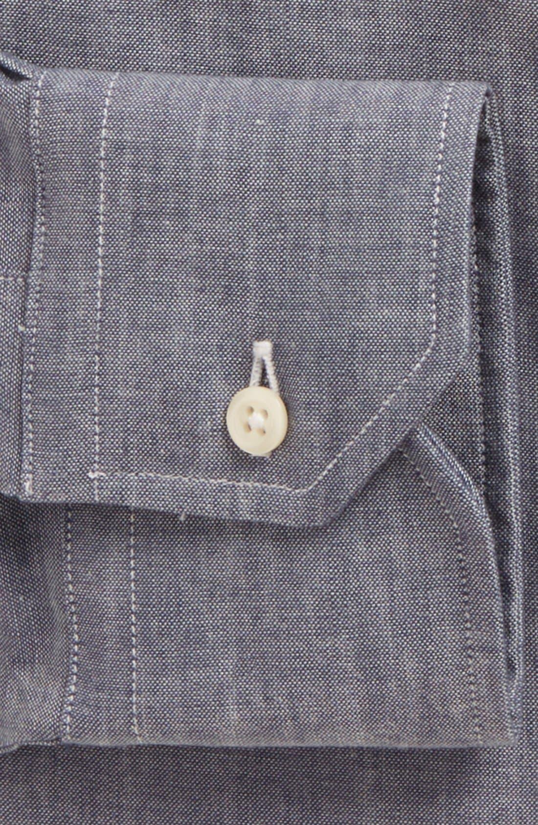 Alternate Image 2  - Gitman Tailored Fit Chambray Dress Shirt