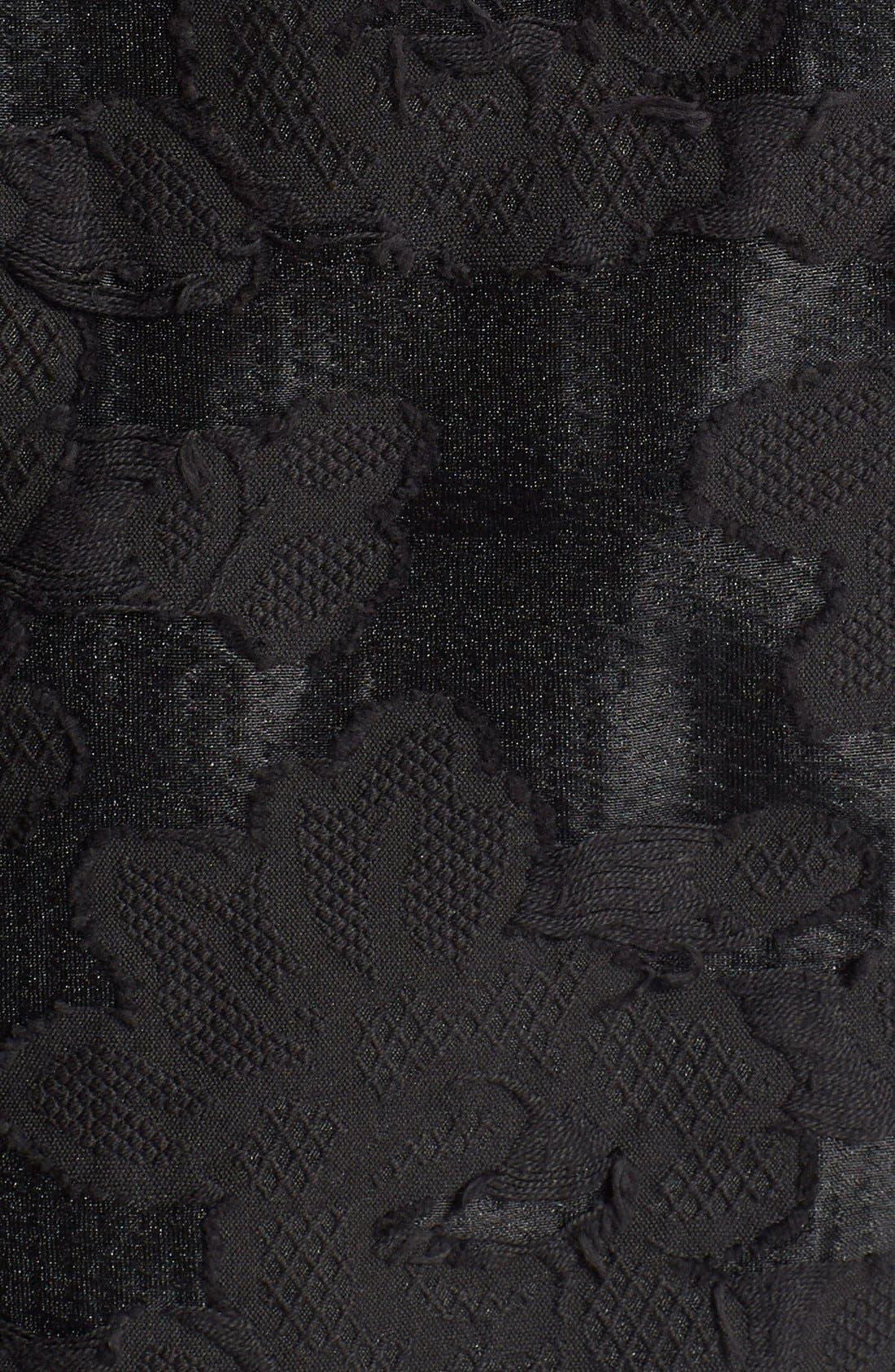 Alternate Image 3  - ASTR Lace Hem Jacquard Shell