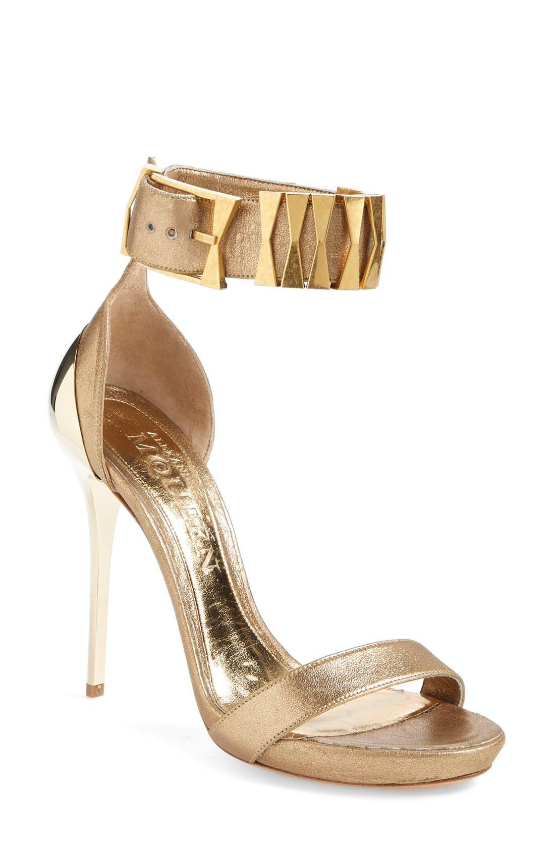 Alternate Image 1 Selected - Alexander McQueen Metal Heel Sandal (Women)