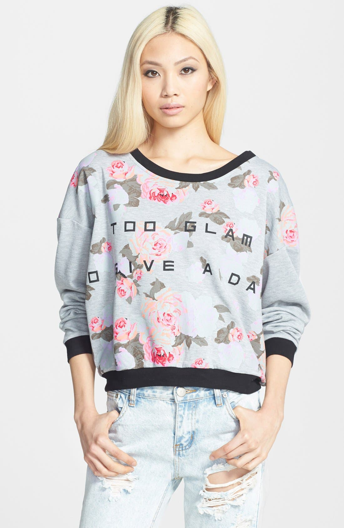Alternate Image 1 Selected - MINKPINK 'Too Glam' Sweater