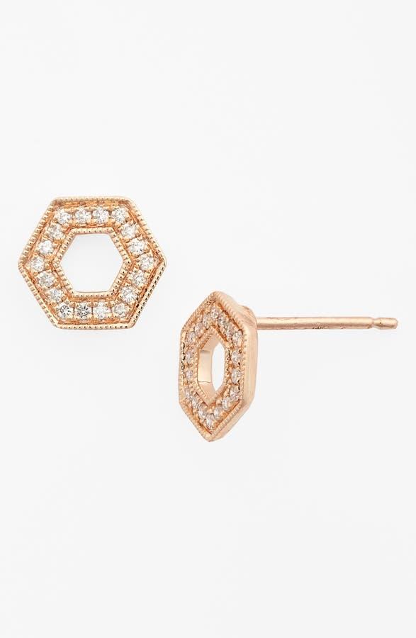 Main Image Dana Rebecca Designs Jennifer Yamina Open Hexagon Stud Earrings