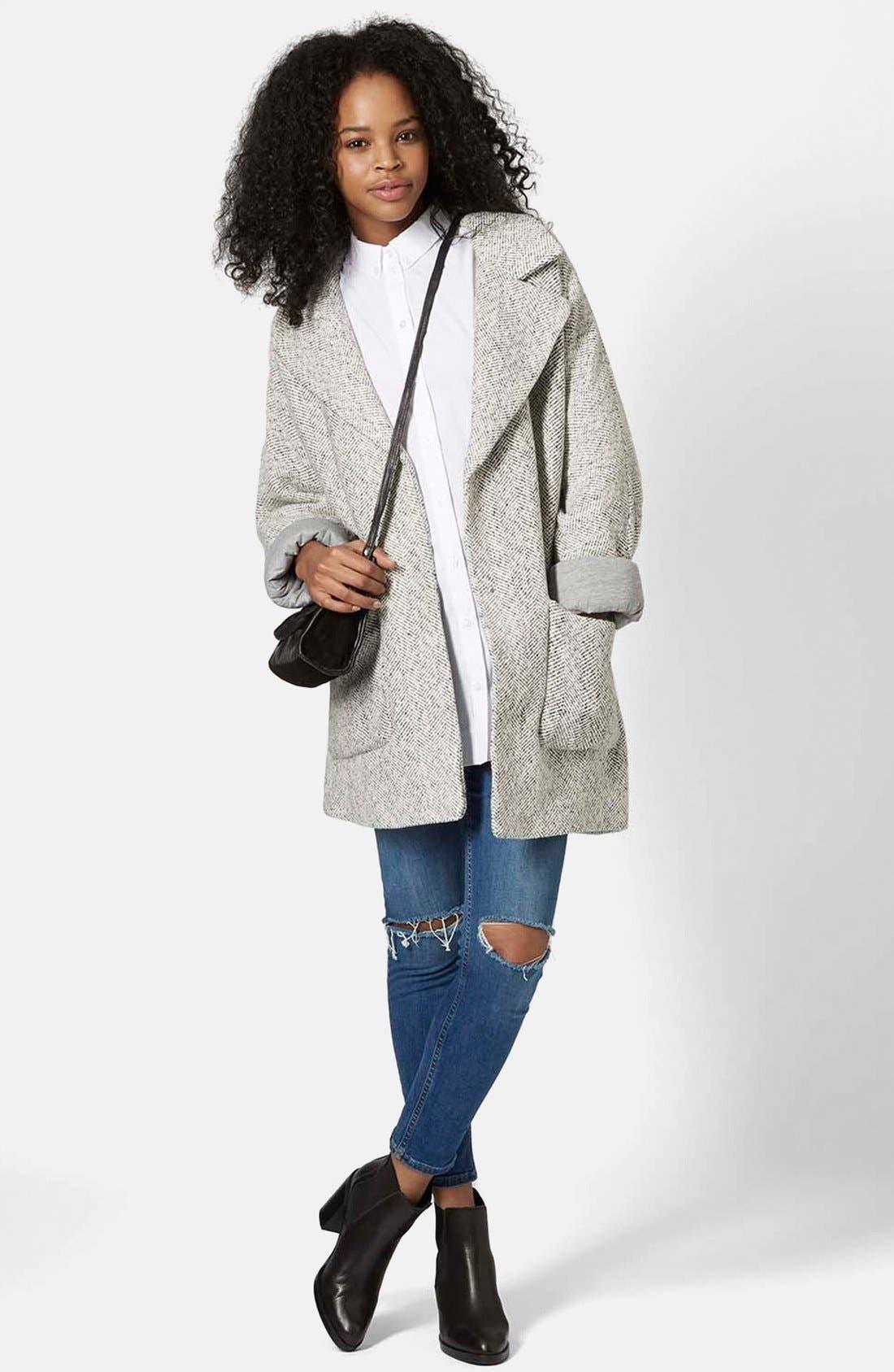 Alternate Image 5  - Topshop Oversized Long Jacket