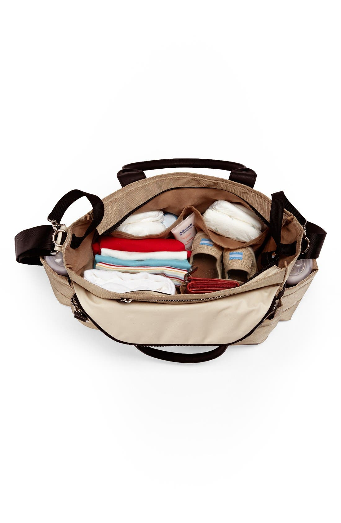 'Chelsea' Diaper Bag,                             Alternate thumbnail 2, color,                             Gold