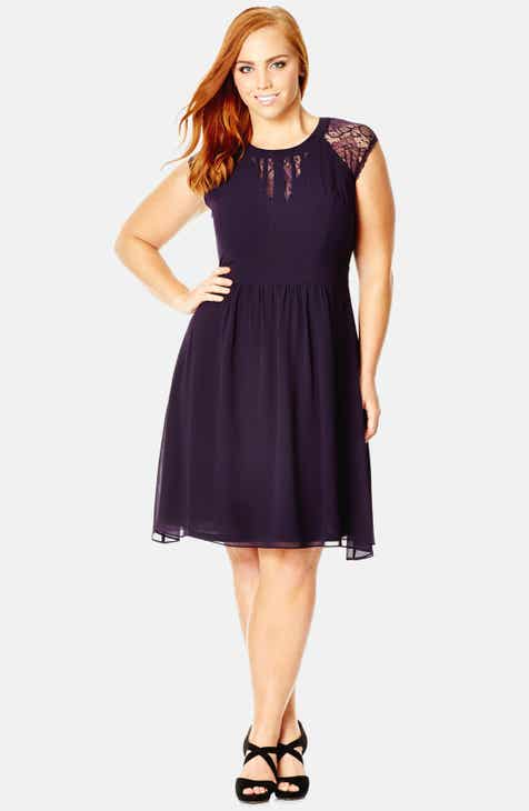4293e2f166eb City Chic Dark Romance Lace Detail Dress (Plus Size)