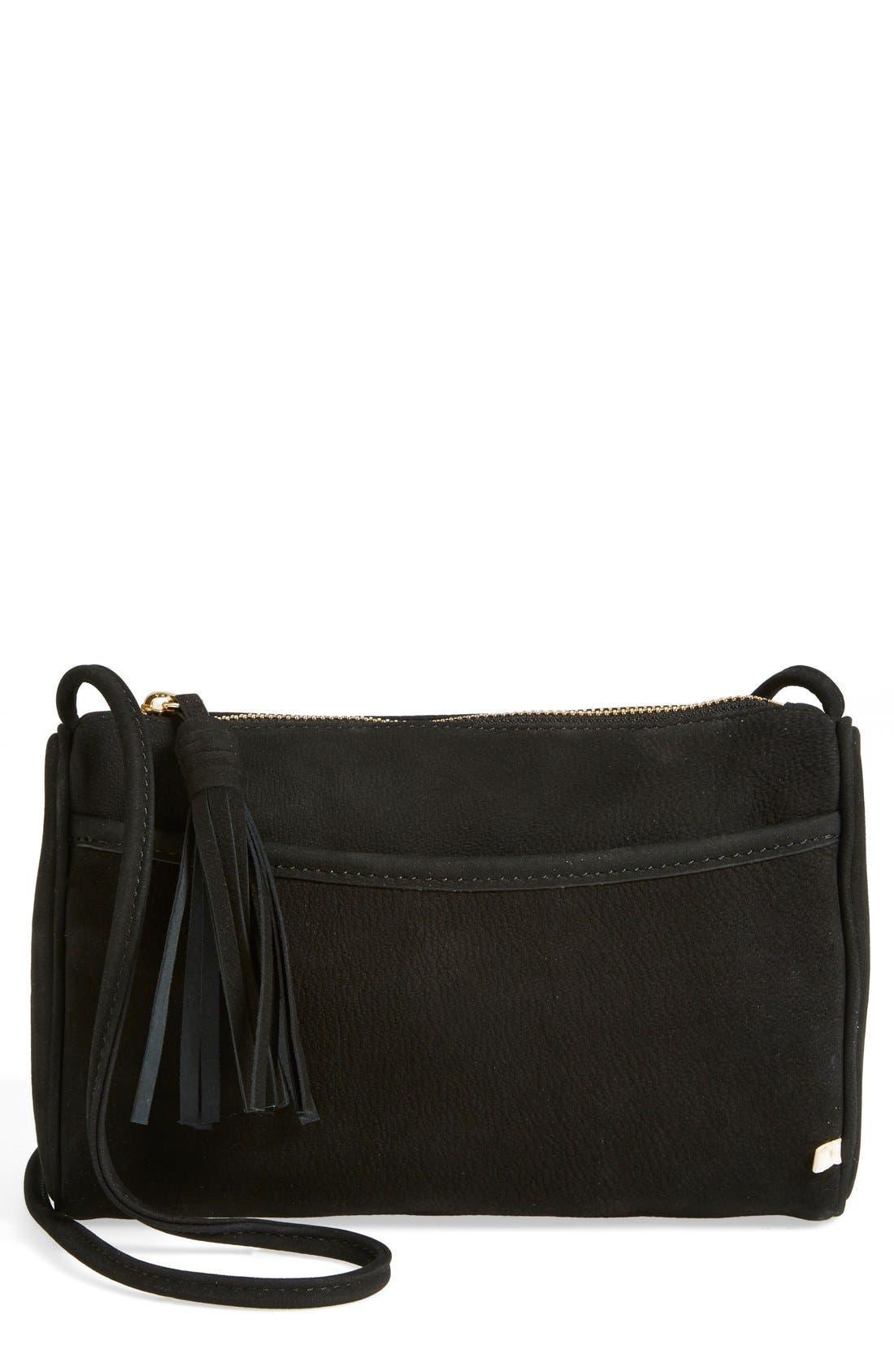Alternate Image 1 Selected - SJP by Sarah Jessica Parker 'Crosstown' Nubuck Crossbody Bag