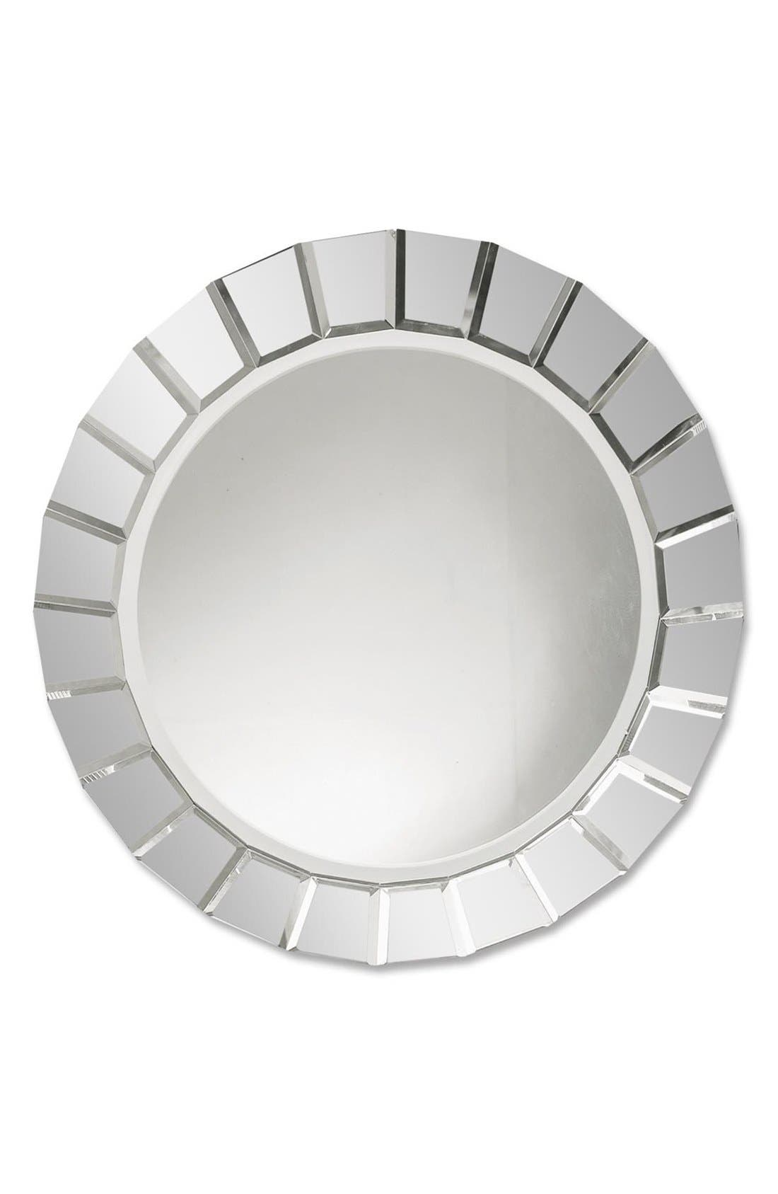 'Fortune' Round Mirror,                             Main thumbnail 1, color,                             White