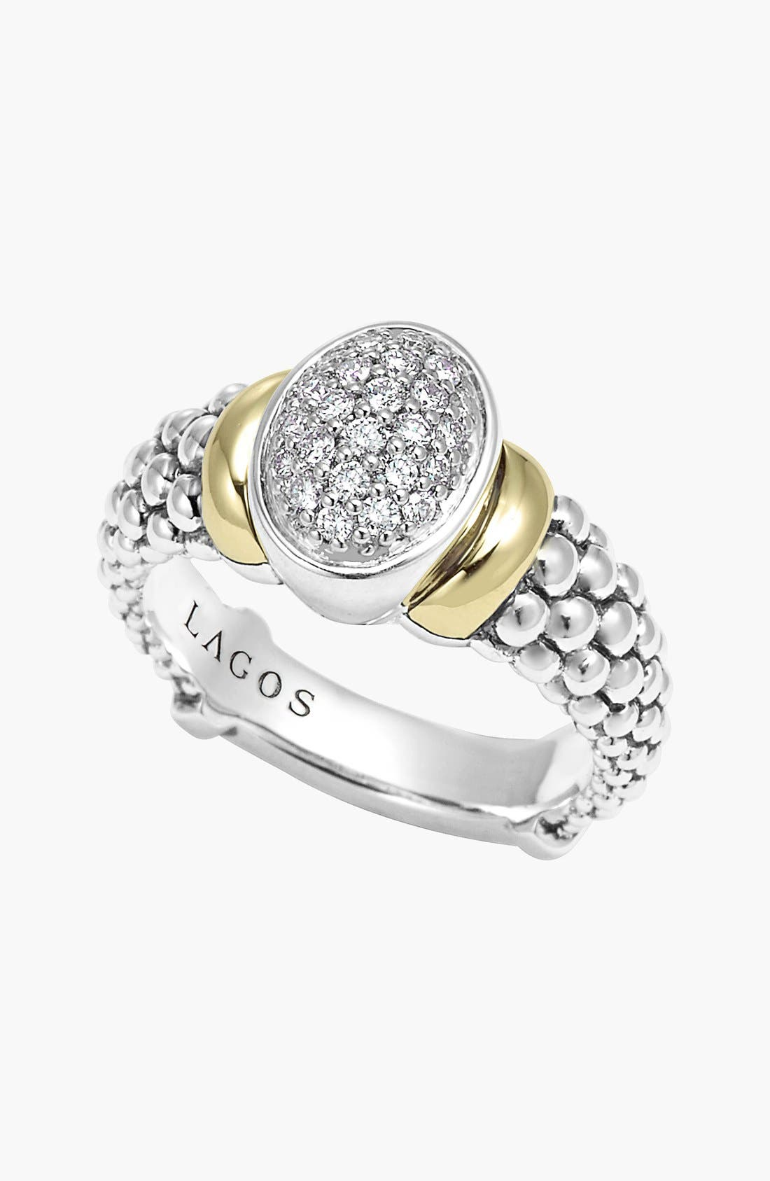 Alternate Image 3  - Lagos 'Twilight' Oval Diamond Ring (Online Only)