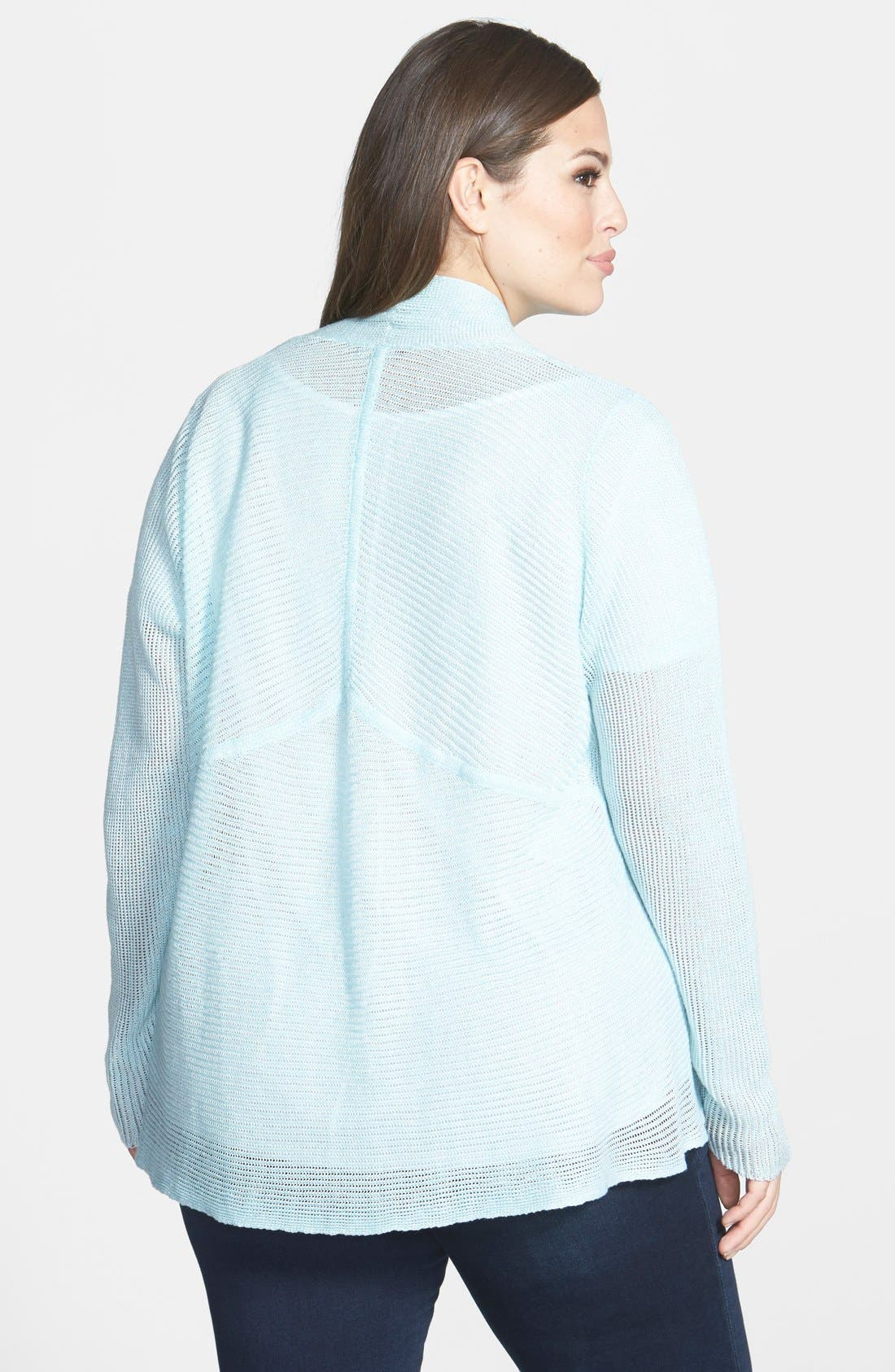Alternate Image 2  - Eileen Fisher Shaped Linen Cardigan (Plus Size)