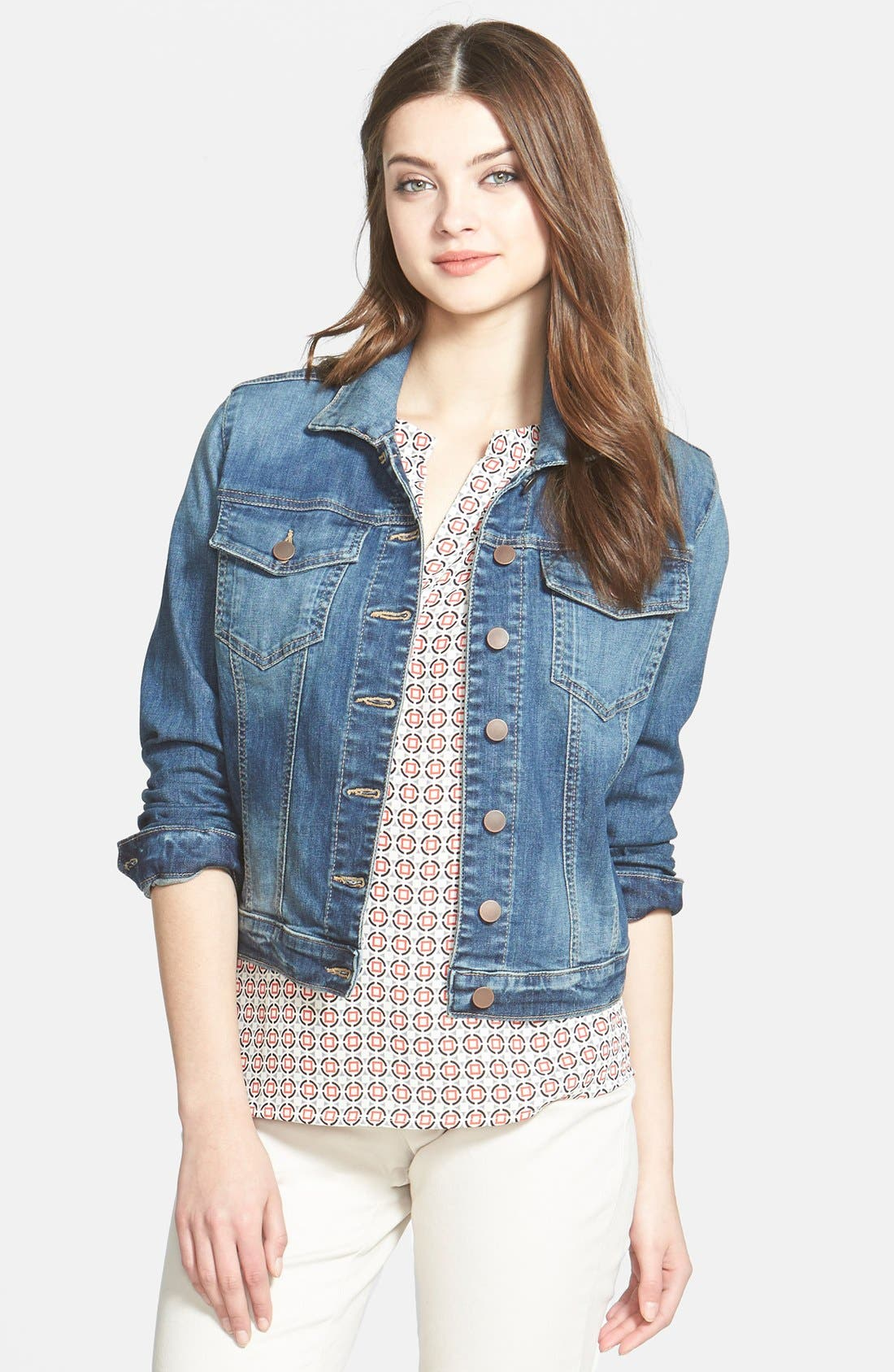 Alternate Image 1 Selected - KUT from the Kloth 'Helena' Denim Jacket (Regular & Petite)