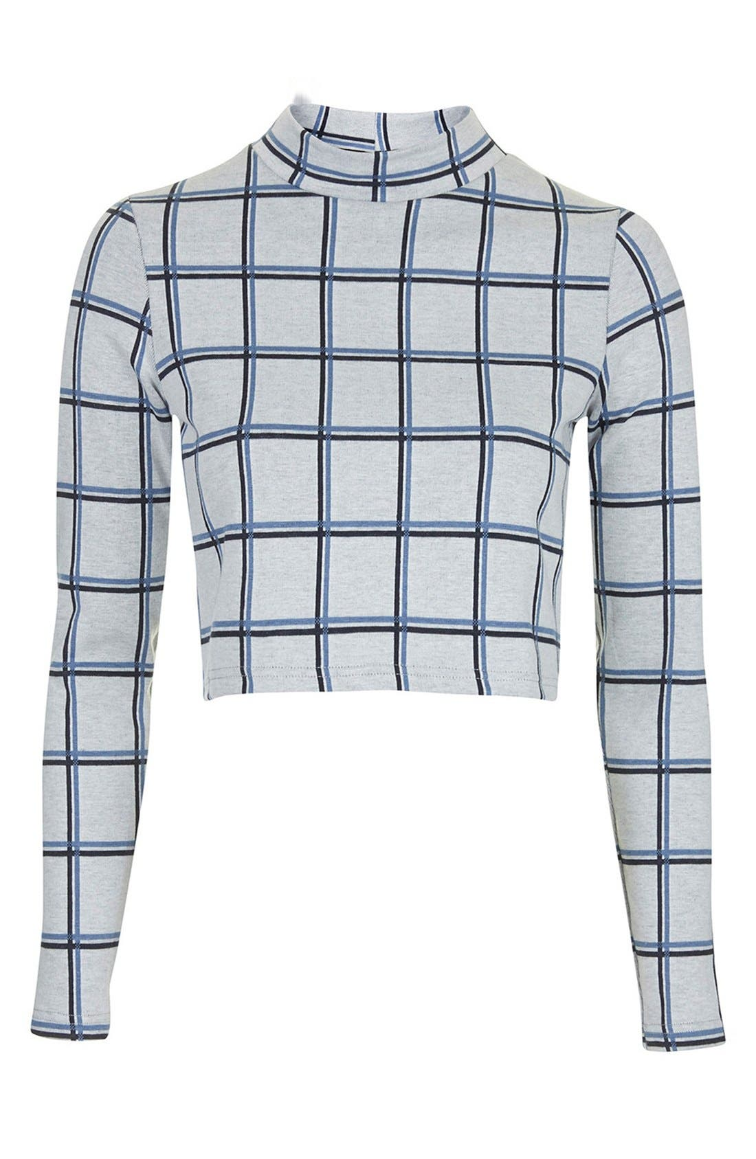 Alternate Image 2  - Topshop Windowpane Crop Top