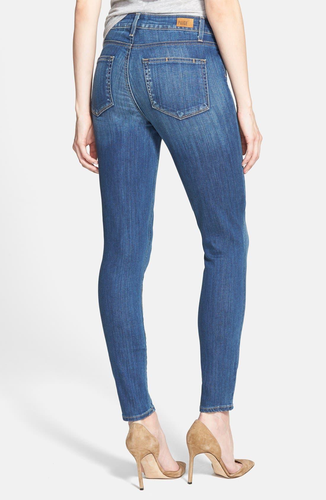 Alternate Image 2  - Paige Denim 'Hoxton' Ankle Jeans (Orson Blue)