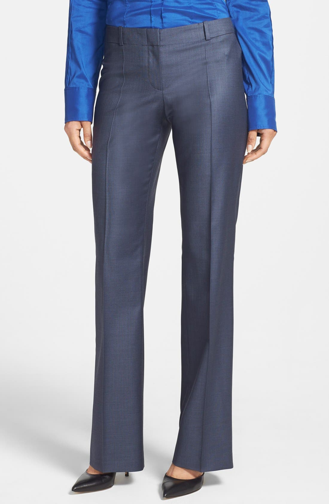 'Temuna' Wool Blend Suiting Trousers,                             Main thumbnail 1, color,                             Electric Blue Fantasy Melange