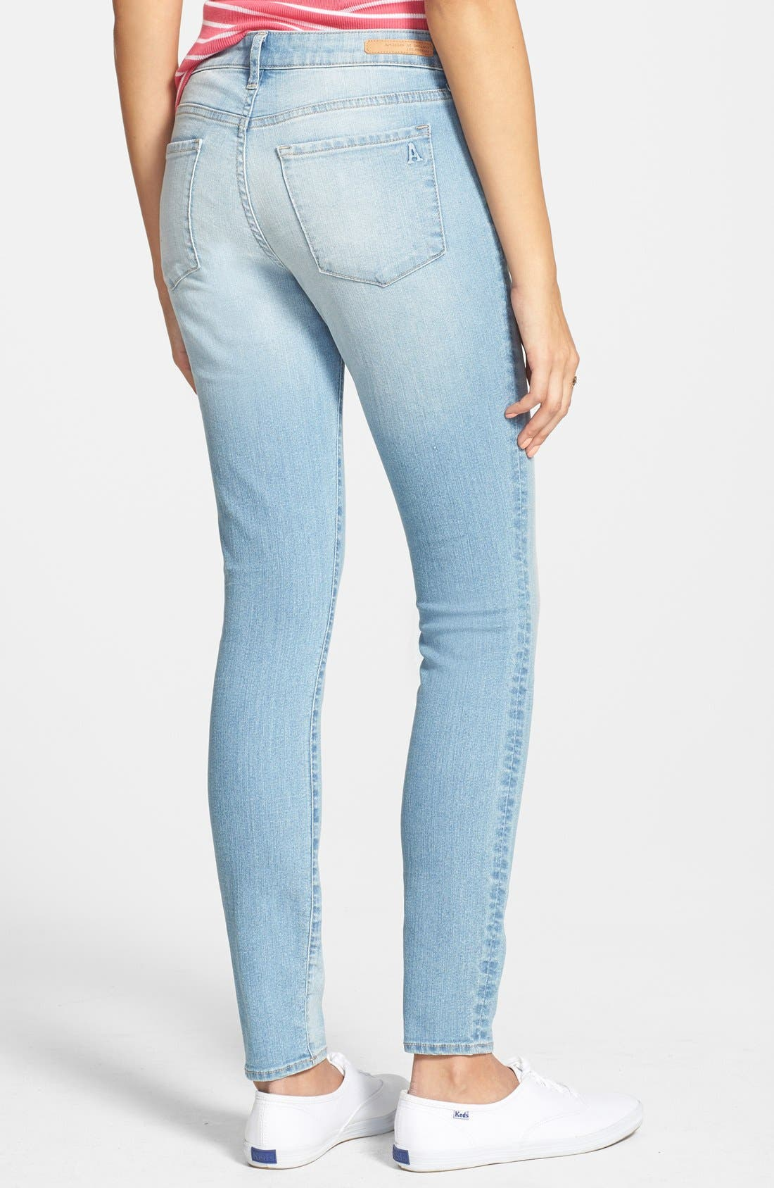 'Sarah' Skinny Jeans,                             Alternate thumbnail 2, color,                             Light Wash