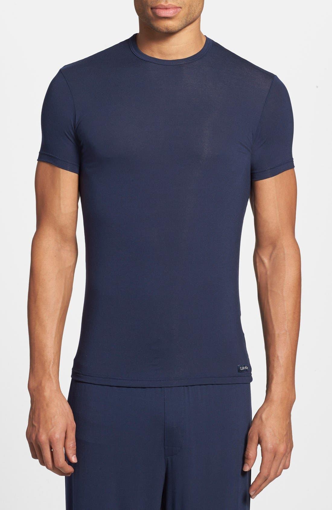 'U5551' Modal Blend Crewneck T-Shirt,                         Main,                         color, Blue Shadow