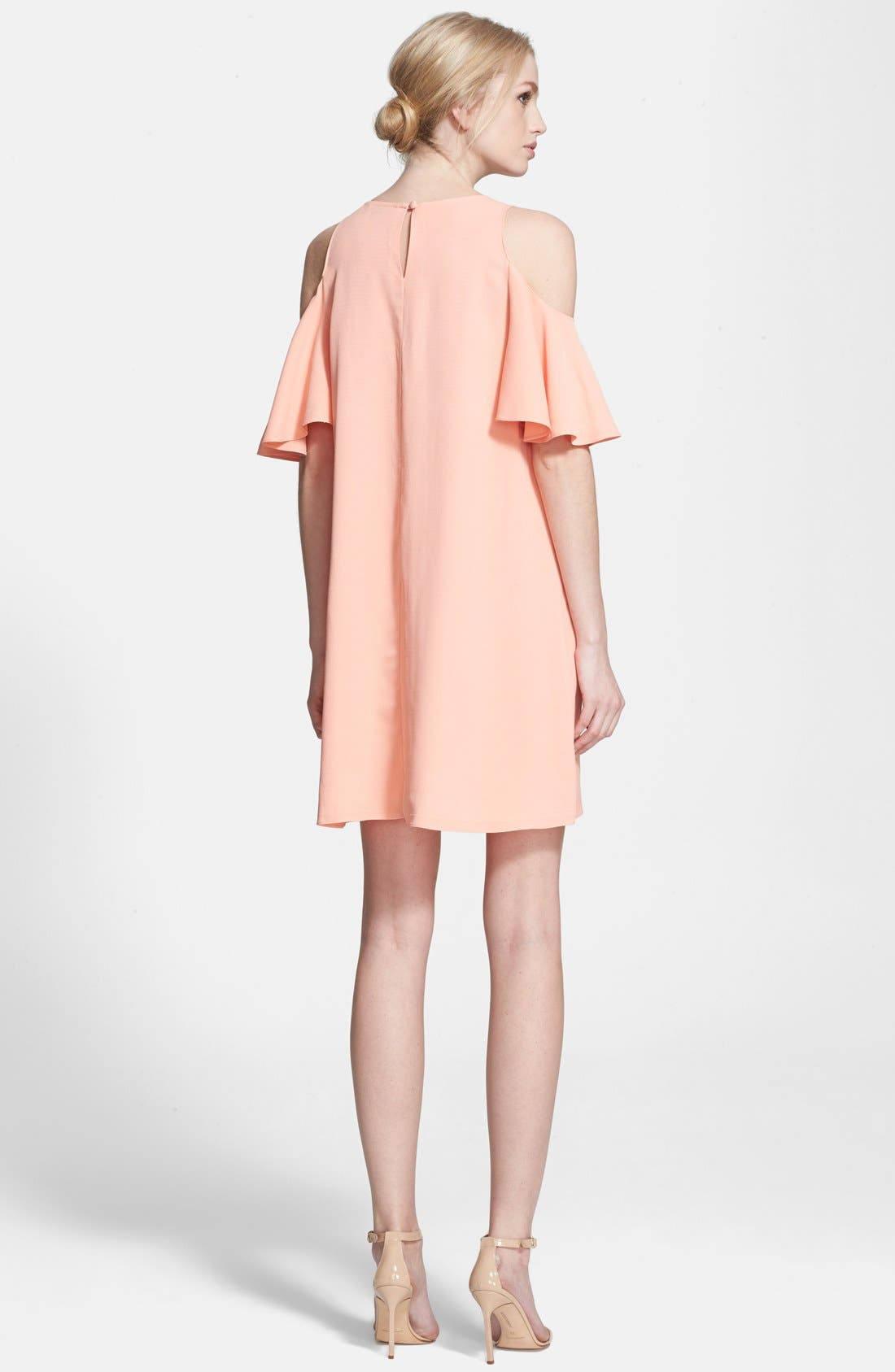 Alternate Image 2  - Rachel Zoe 'Duvall' Cold Shoulder Ruffle Shift Minidress