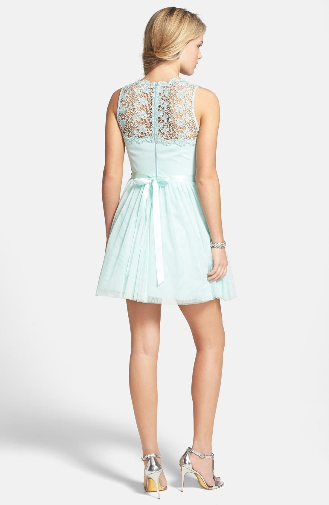 Alternate Image 2  - Sequin Hearts Embellished Dress (Juniors)