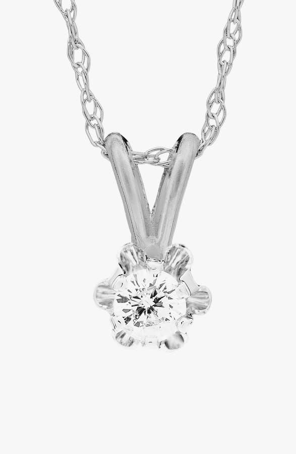 Mignonette 14k White Gold Diamond Necklace (Girls) | Nordstrom