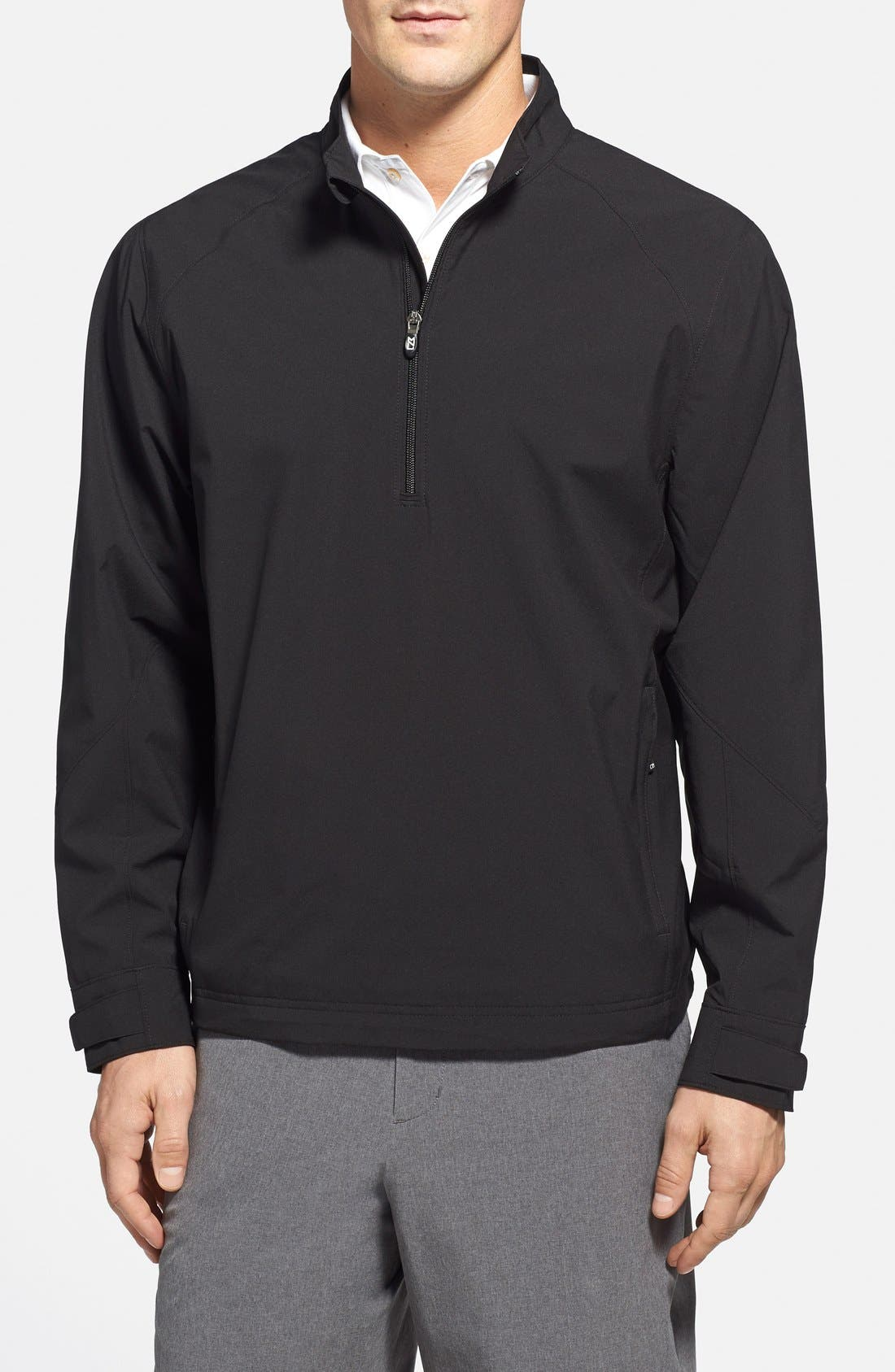 'Summit' WeatherTec Wind & Water Resistant Half Zip Jacket,                             Main thumbnail 1, color,                             Black