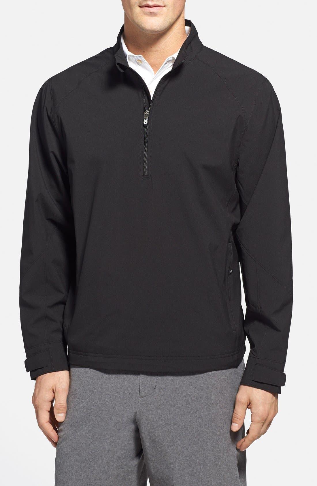 'Summit' WeatherTec Wind & Water Resistant Half Zip Jacket,                         Main,                         color, Black