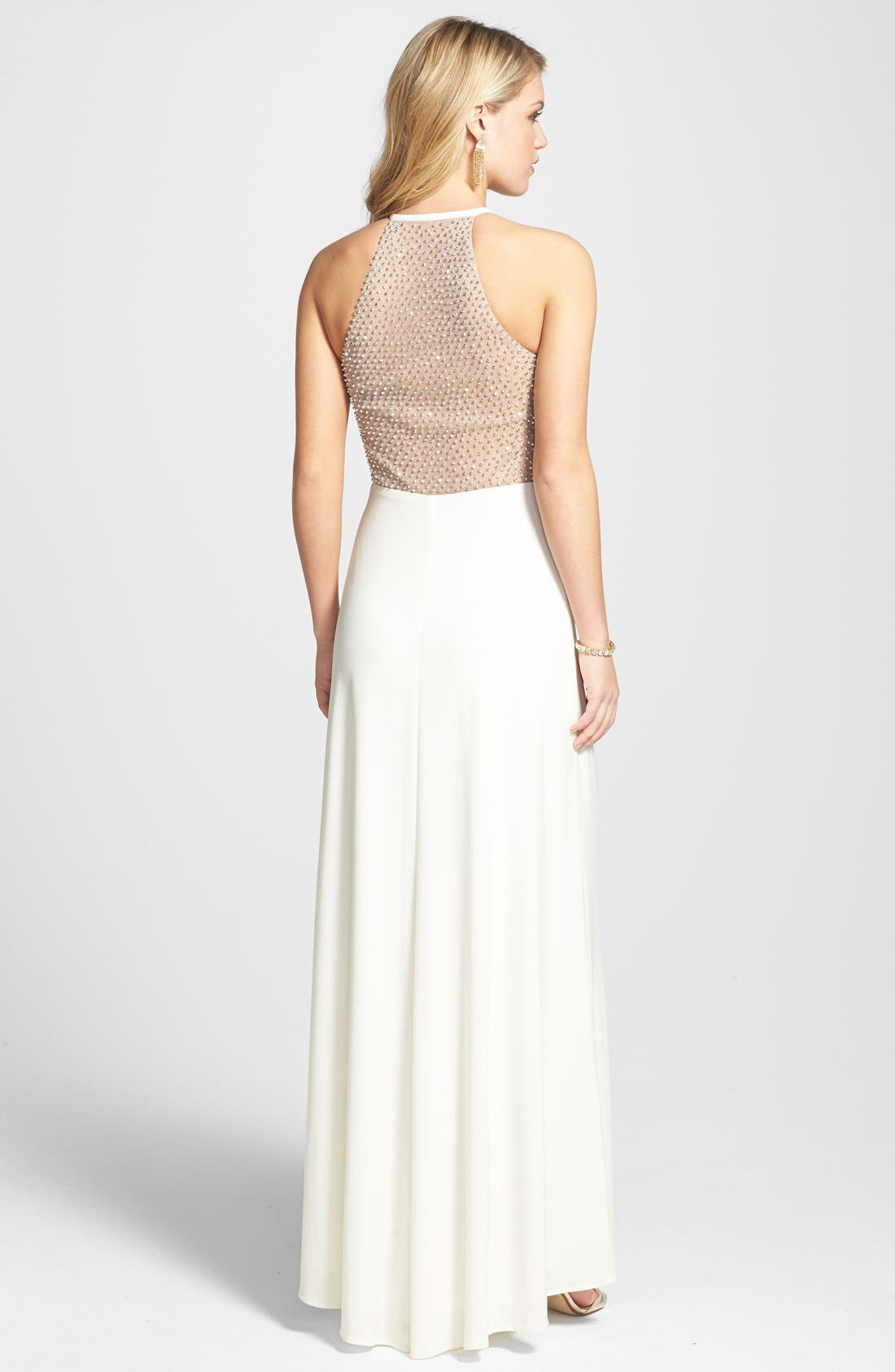 Alternate Image 2  - Morgan & Co. Illusion Back Gown