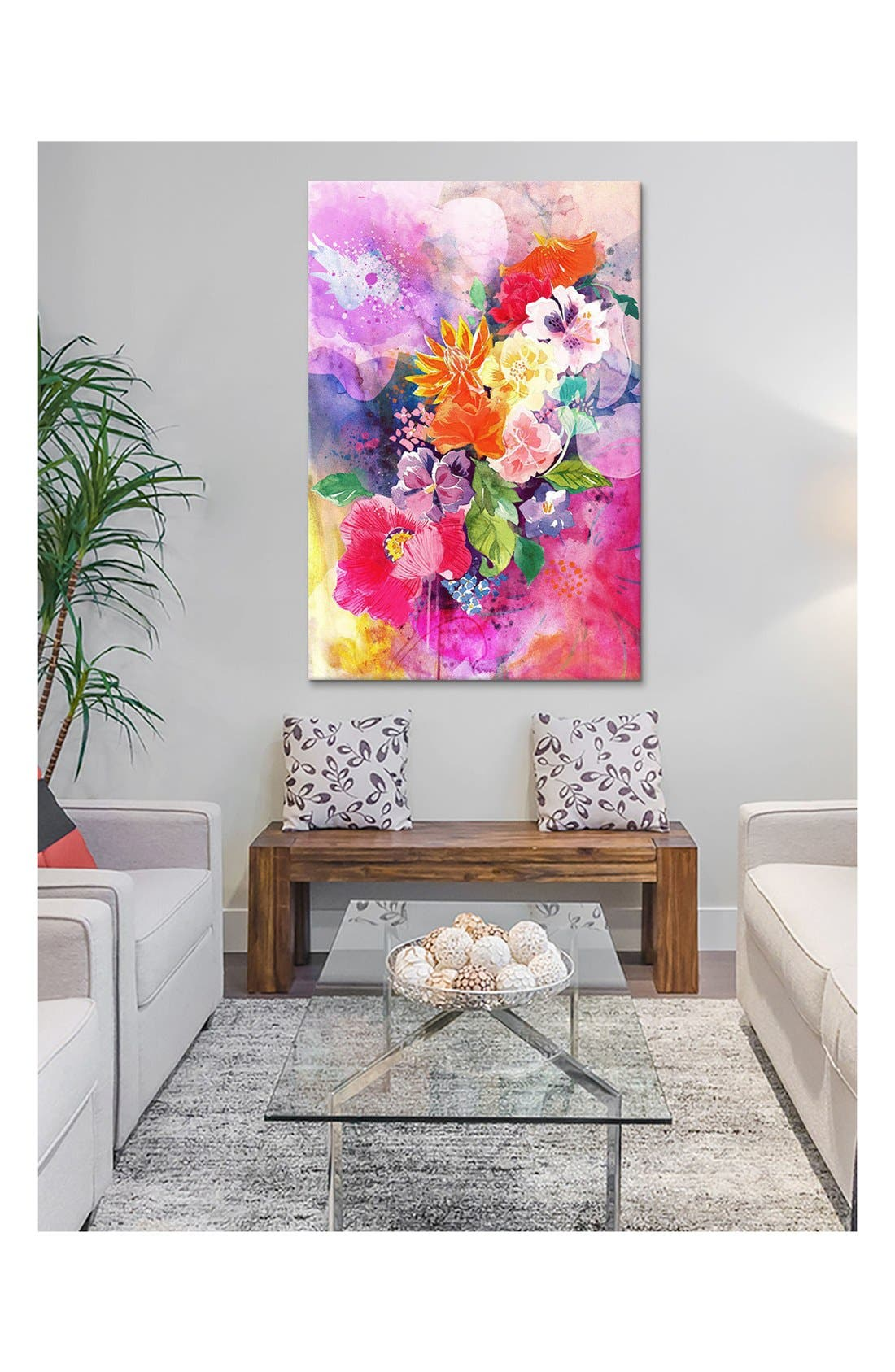 Alternate Image 2  - iCanvas 'Spring Flowers - DarkLord' Giclée Print Canvas Art