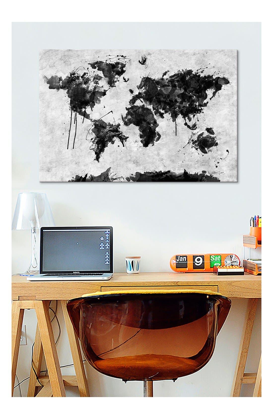 'Wild World - Diego Tirigall' Giclée Print Canvas Art,                             Alternate thumbnail 2, color,                             White/ Black