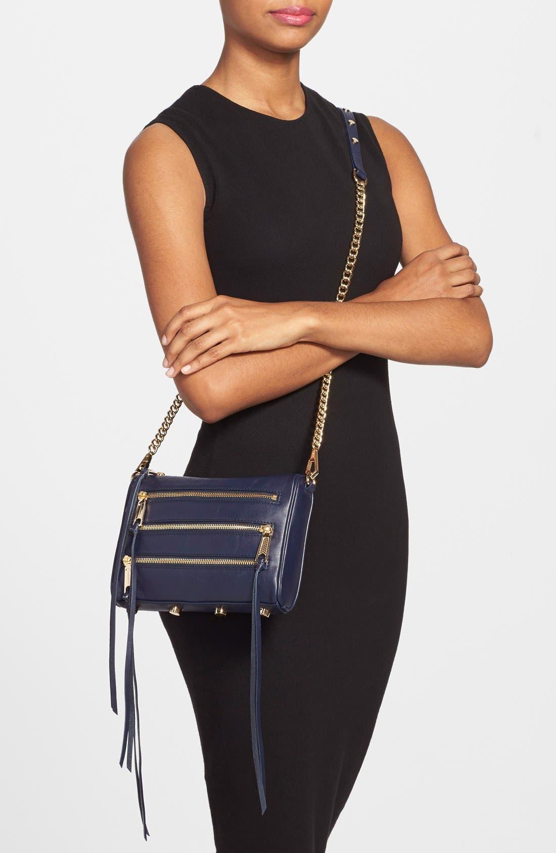 Alternate Image 2  - Rebecca Minkoff 'Mini 5-Zip' Convertible Crossbody Bag