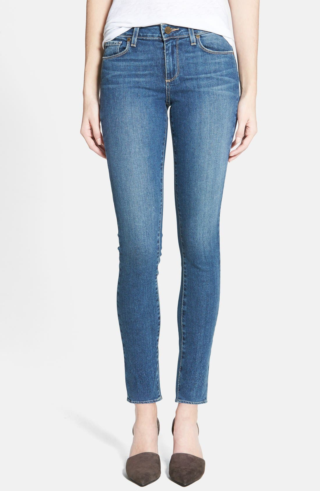 Main Image - Paige Denim 'Verdugo' Ultra Skinny Jeans (Miles Blue)