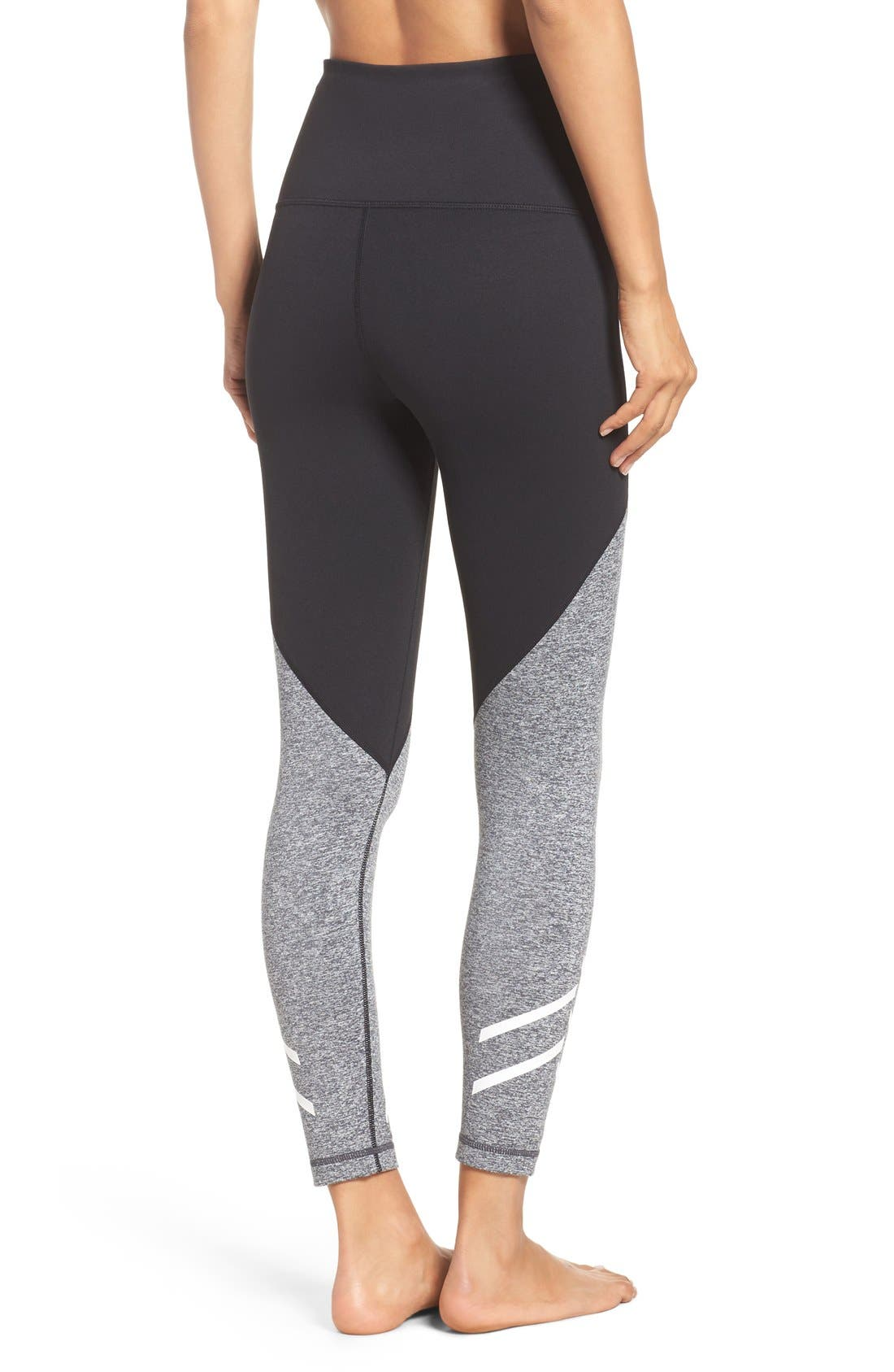Alternate Image 2  - Zella Arrow High Waist Midi Leggings