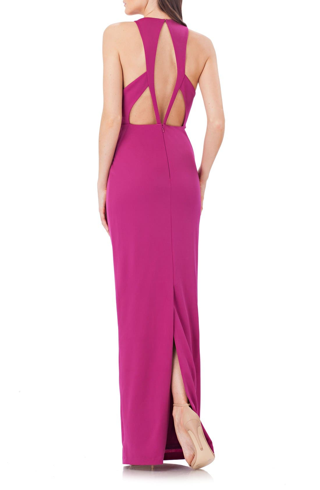Alternate Image 2  - JS Collections Stretch Crepe Gown