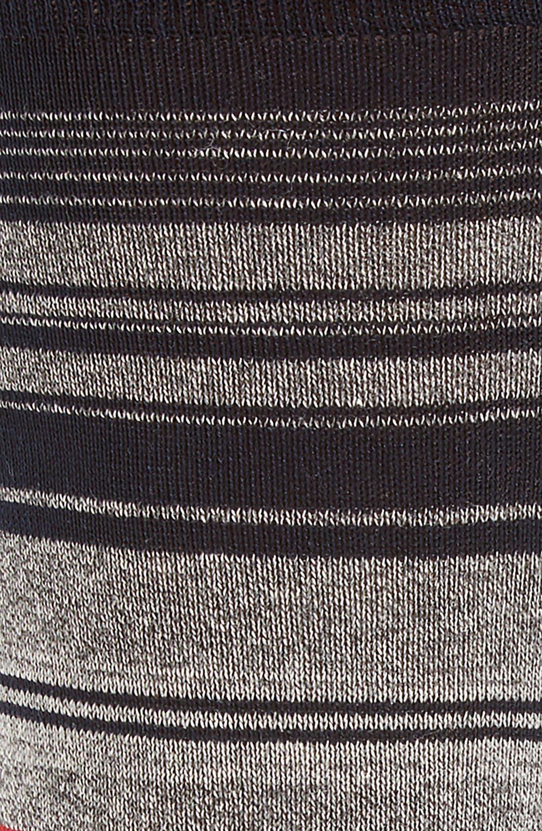 Mercerized Cotton Blend Socks,                             Alternate thumbnail 2, color,                             Ruby/ Grey