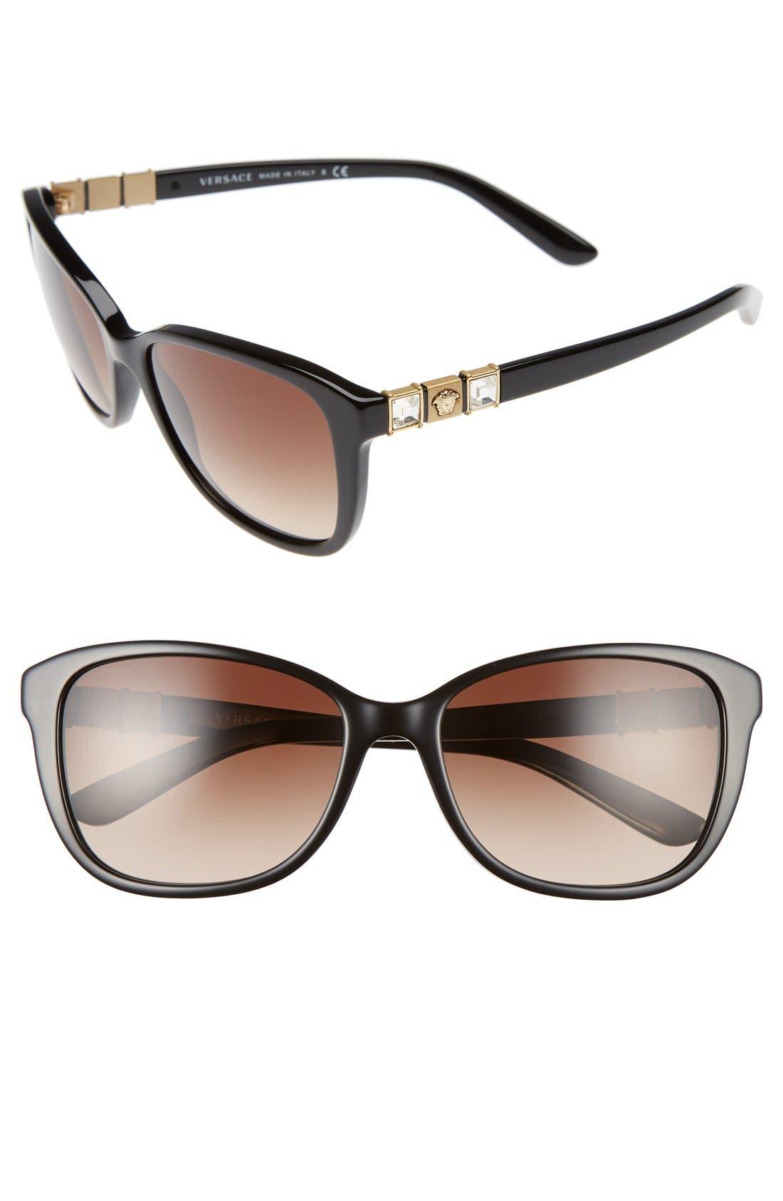 VERSACE 57mm Sunglasses