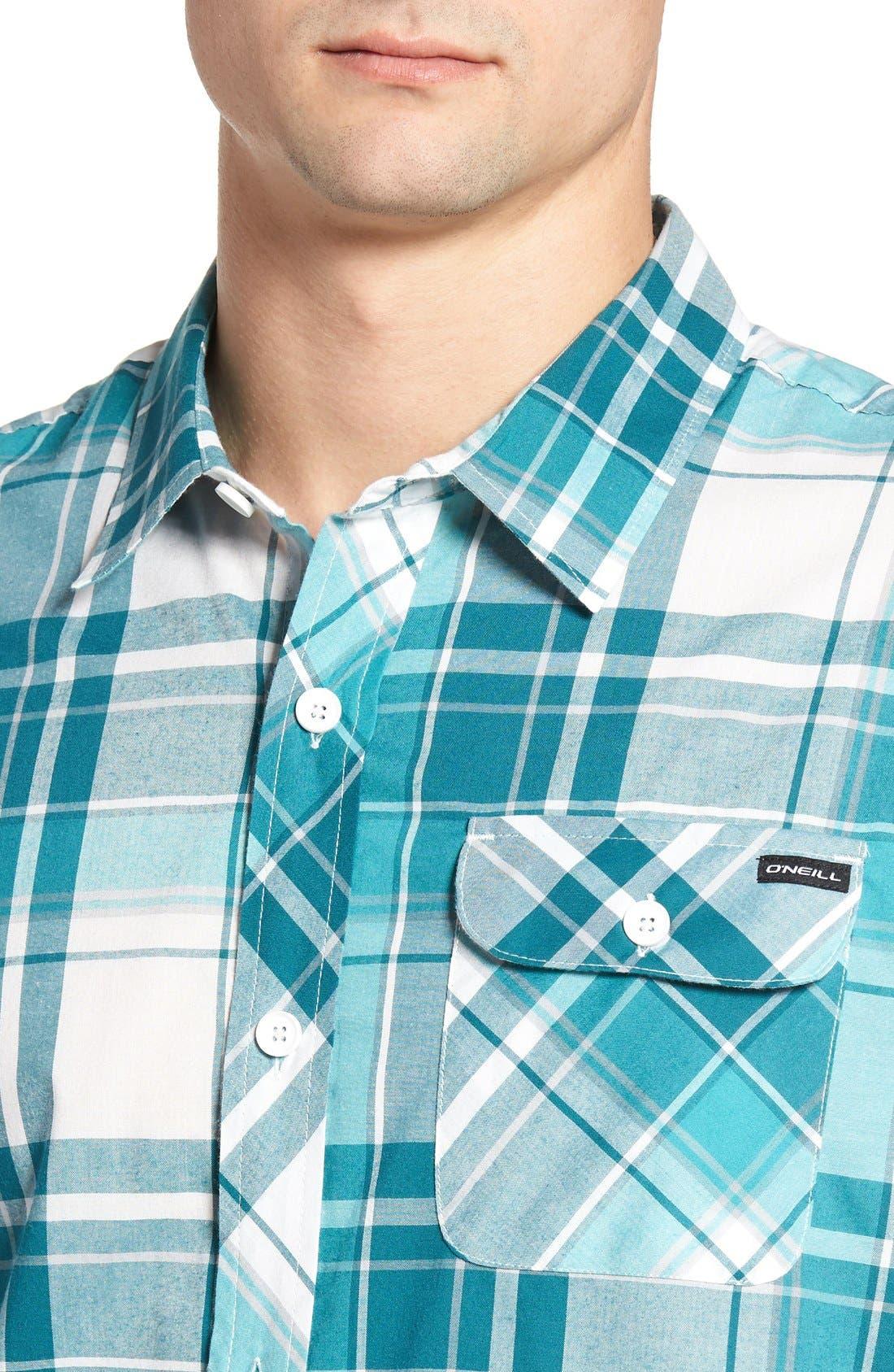 Alternate Image 4  - O'Neill Plaid Woven Shirt