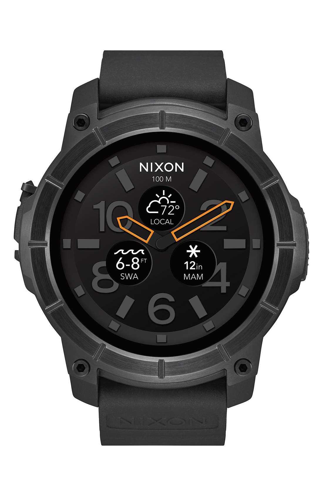 Main Image - Nixon Mission Ana-Digi Smart Watch, 48mm