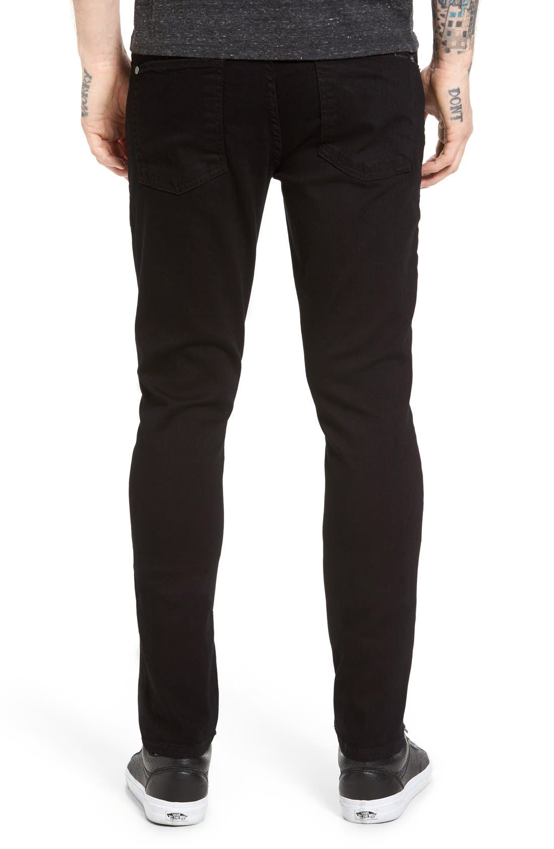 Alternate Image 2  - Fidelity Denim Vantage Skinny Fit Jeans (Ever Black)