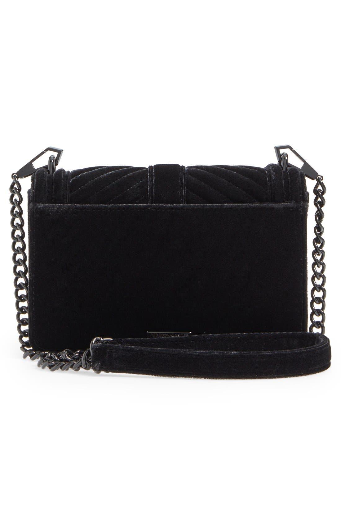 Alternate Image 3  - Rebecca Minkoff Small Love Quilted Velvet Crossbody Bag