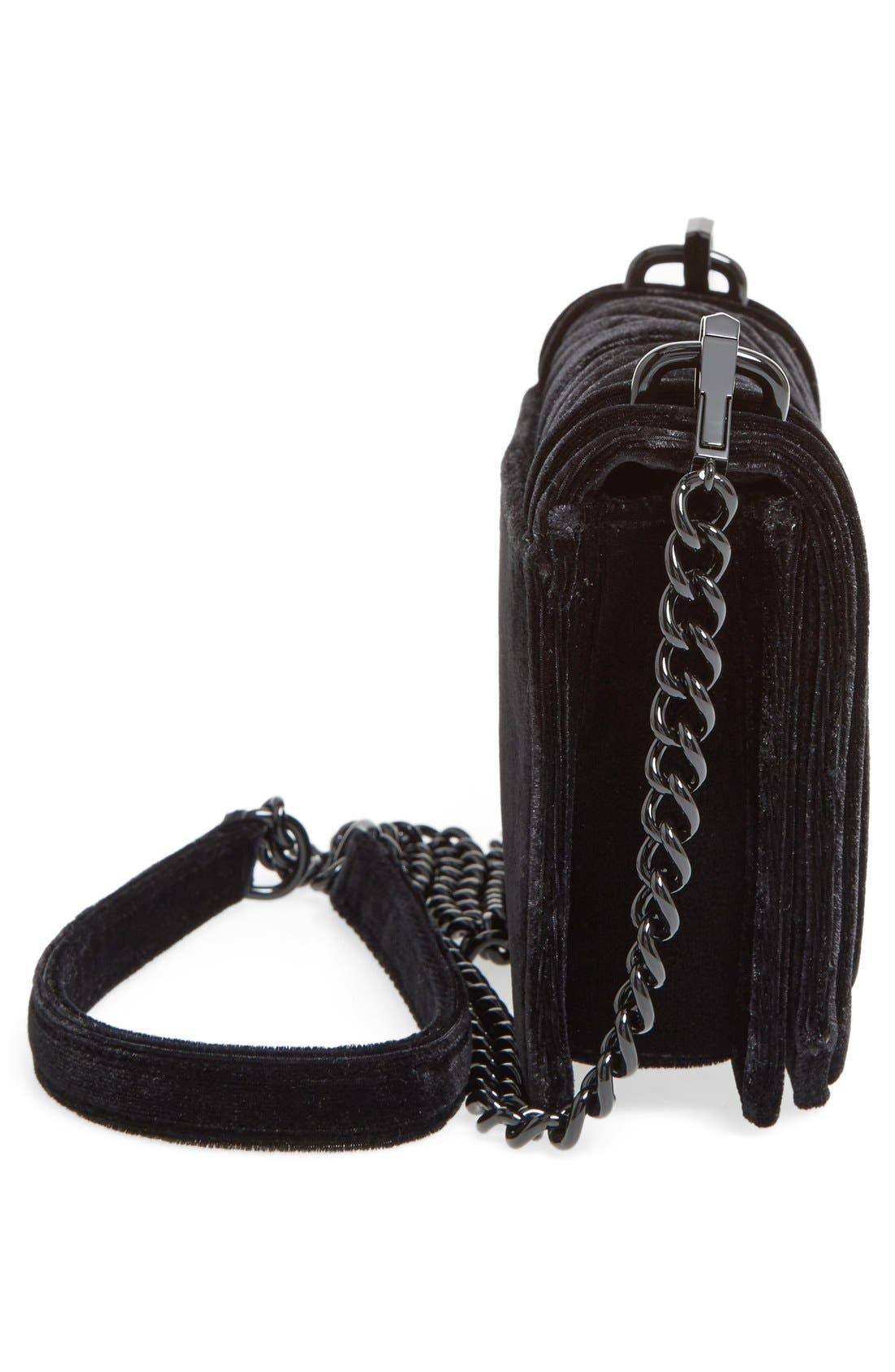 Alternate Image 5  - Rebecca Minkoff Small Love Quilted Velvet Crossbody Bag