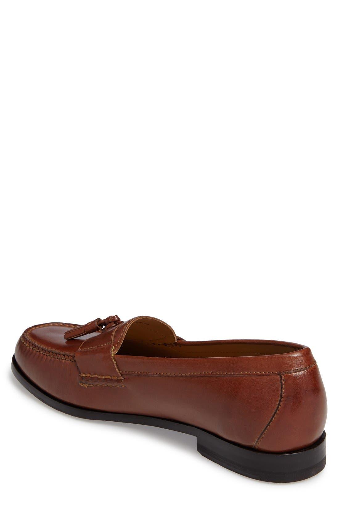 'Pinch Grand' Tassel Loafer,                             Alternate thumbnail 2, color,                             Papaya Leather