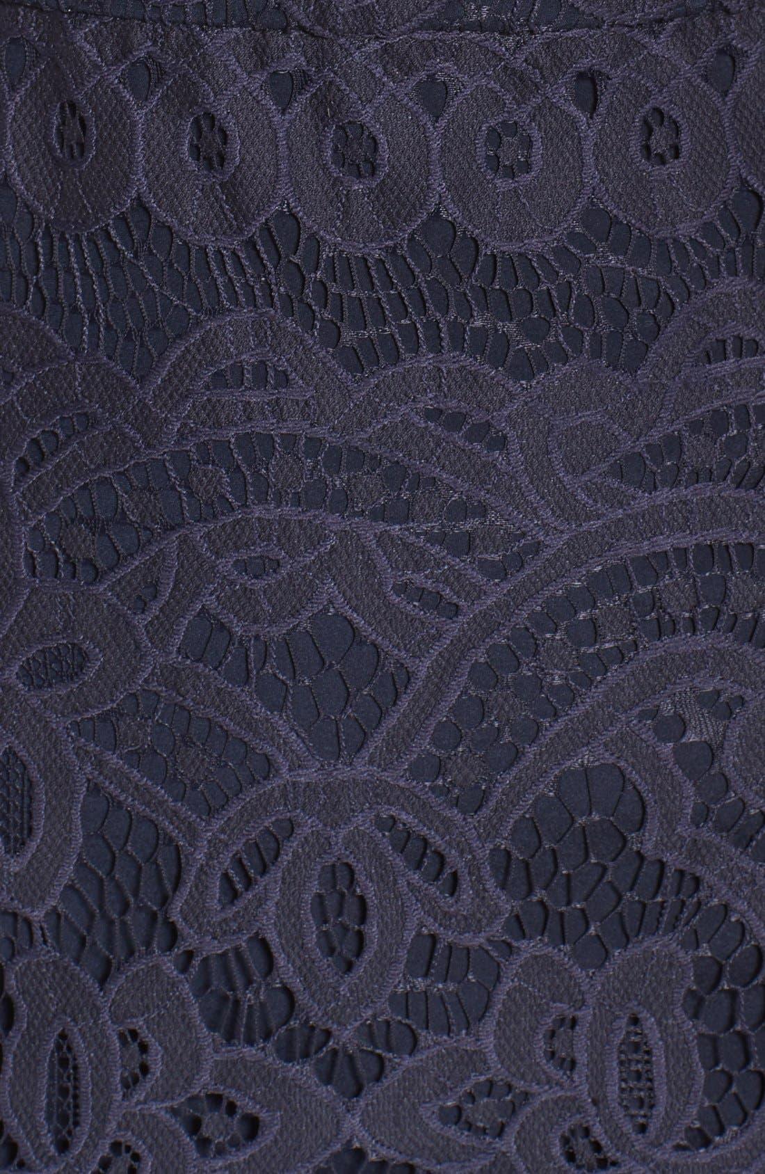 Alternate Image 5  - Vera Wang Illusion Yoke Lace Maxi Dress