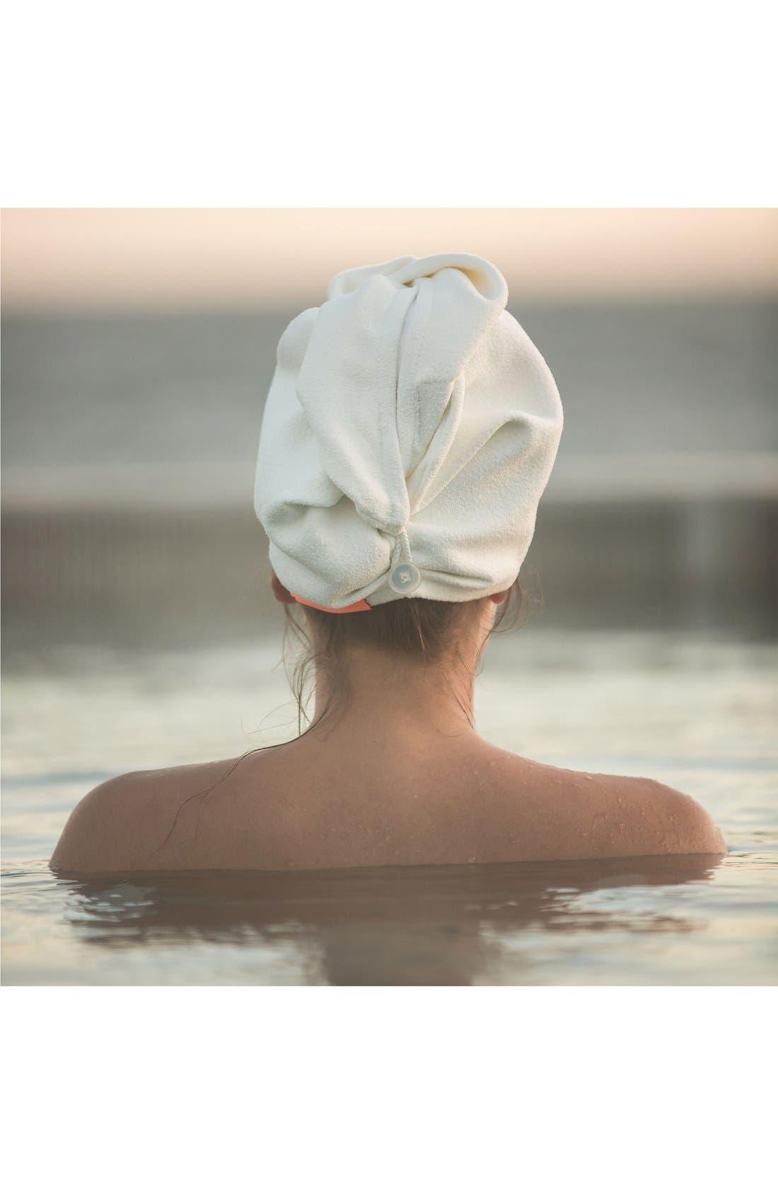 Alternate Image 2  - AQUIS Ivory Hair Turban