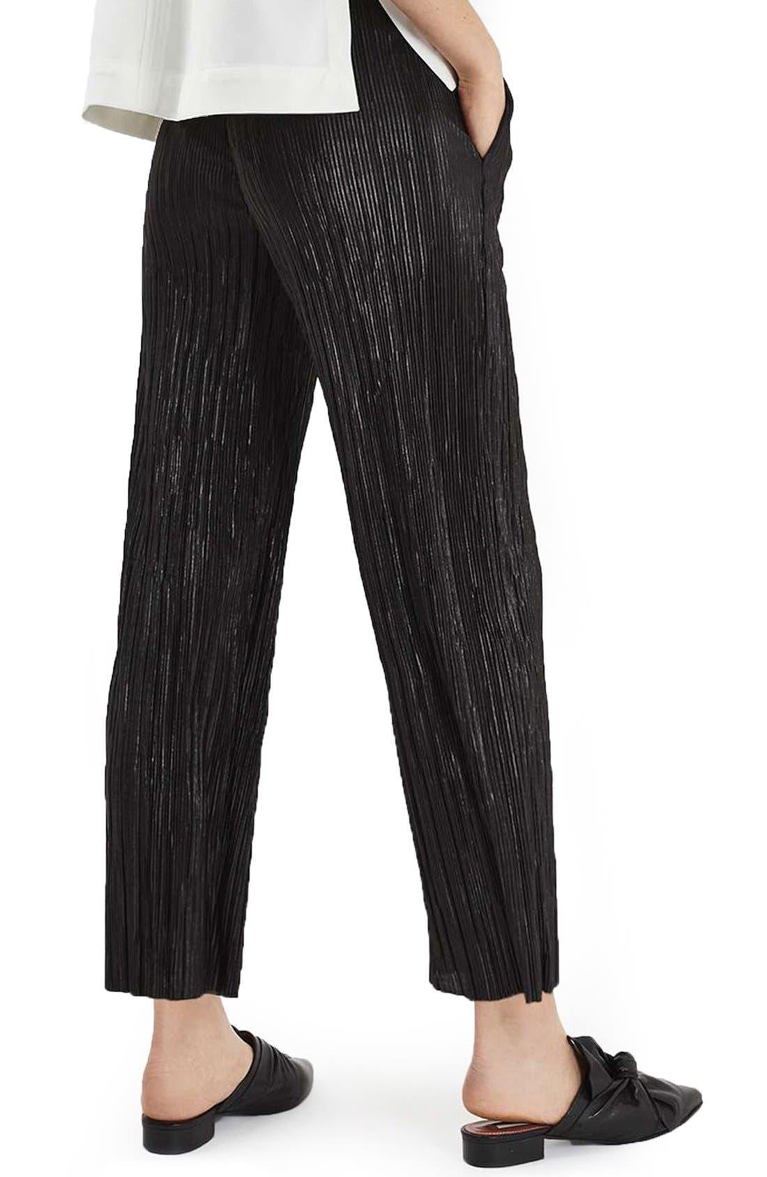Alternate Image 3  - Topshop Plissé Trousers