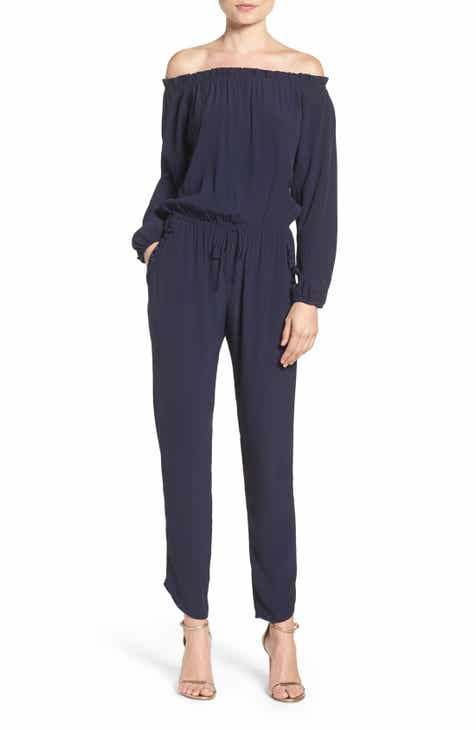 Fraiche by J Off the Shoulder Jumpsuit by FRAICHE BY J